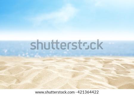 sand and beach  - stock photo