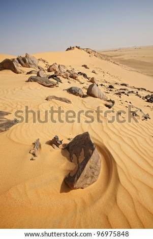 sand and rock - stock photo