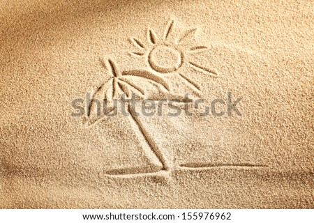 sand and sun background  - stock photo