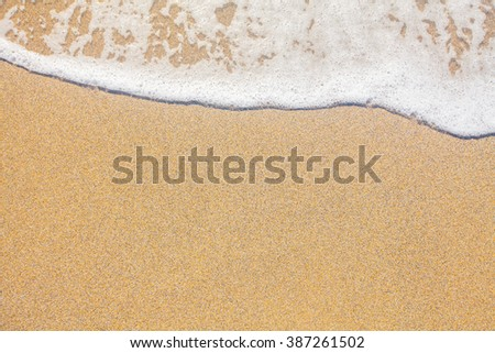 sand and wave background - stock photo