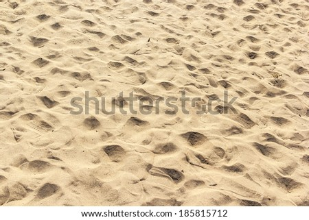 sand backgrounds and texture with Footprints. at sam pam bok, Ubon-ratchathani, North-east of Thailand , Hat hong. - stock photo