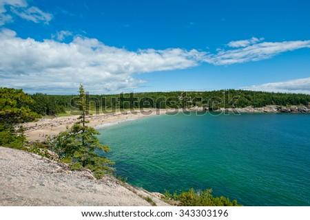 Sand Beach, Acadia National Park, Maine - stock photo