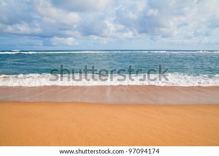 sand beach and sea background - stock photo