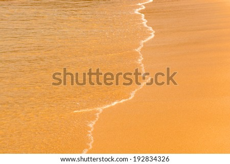 Sand beach and wave. Thailand, Phuket - stock photo