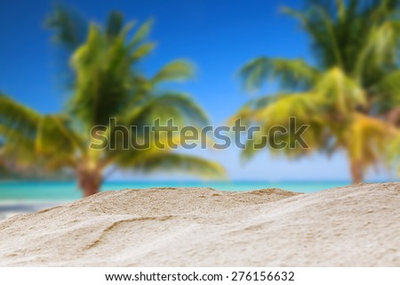 Sand beach background. - stock photo