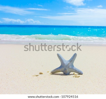 Sand Beach Sea - stock photo