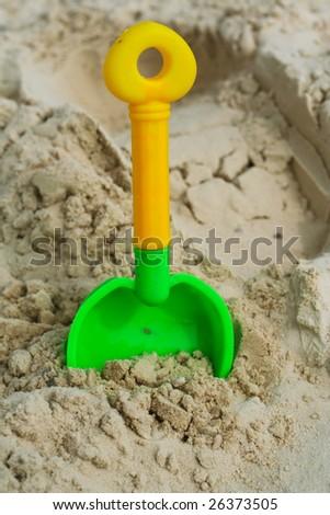 Sand beach toy - stock photo