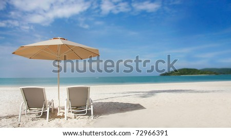 sand beach view - stock photo