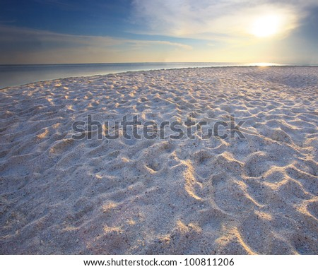 sand beach with rim light use for nature background