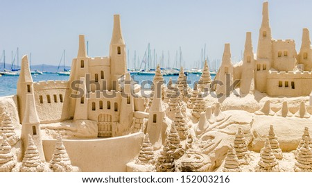 sand castle - stock photo