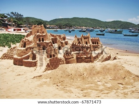 sand castle on a brazilian beach