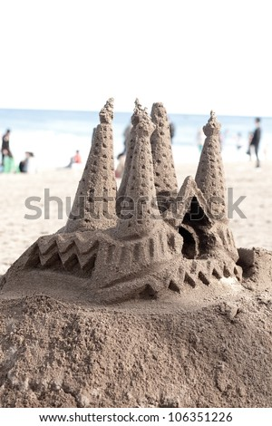 sand castle showing gaudi La Sagrada Familia