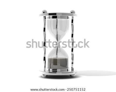 sand clock render - stock photo