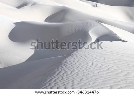 Sand desert dunes of Socotra island - stock photo