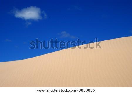 Sand Dune & Cloud - stock photo