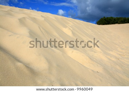 Sand Dune - Fraser Island, UNESCO, Australia - stock photo