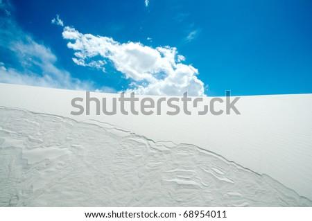 sand dune hills - stock photo