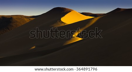 Sand Dunes at Sand Mountain, Nevada, near Fallon.   A popular OHV recreation area for off road vehicles. - stock photo
