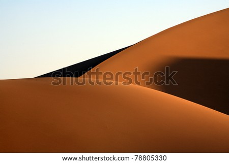 Sand Dunes, Death Valley National Park - stock photo