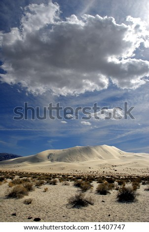 Sand Dunes In Death Valley California - stock photo
