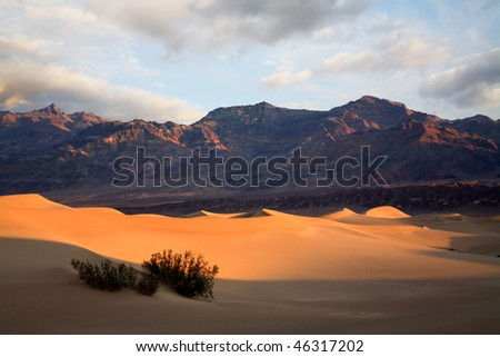 Sand Dunes In Morning Light, Death Valley National Park, California - stock photo