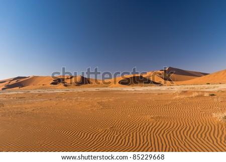 Sand Dunes in Namib Naukluft National Park - stock photo