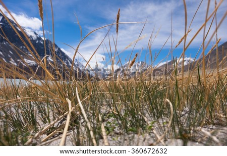 Sand dunes in the mountains. National Park - stock photo