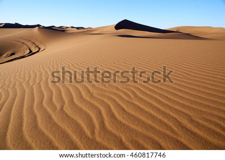Sand dunes in the Sahara Desert, Morocco great travel destination image