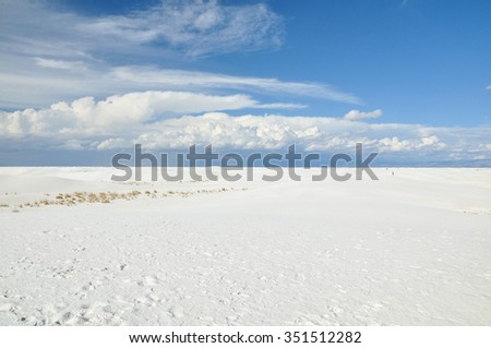 Sand dunes in White Sands National Monument, USA