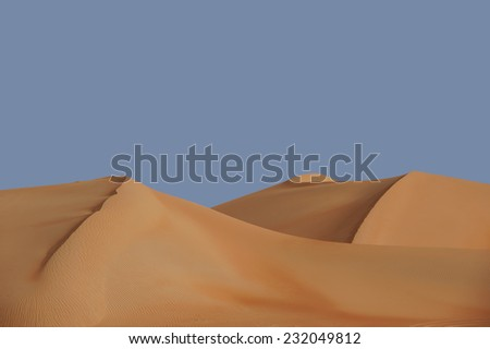 Sand dunes Middle East