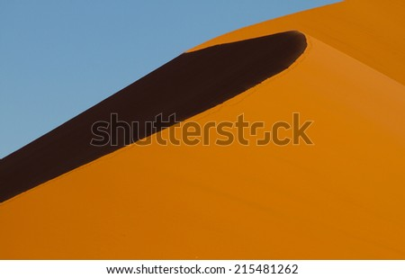 sand dunes - Namib desert (Namibia) - stock photo
