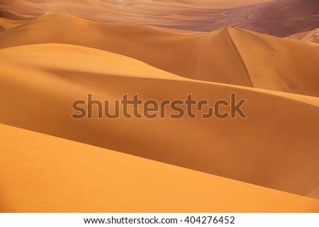 Sand dunes near Huacachina in Ica region, Peru. - stock photo