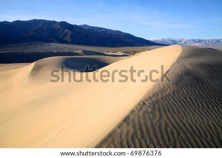Sand Dunes near Stovepipe Wells in Death Valley California. - stock photo