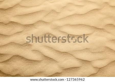 Sand dunes of desert Thar  in Rajasthan, India - stock photo