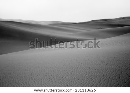 Sand dunes, Sandwich harbour, Namibia - stock photo