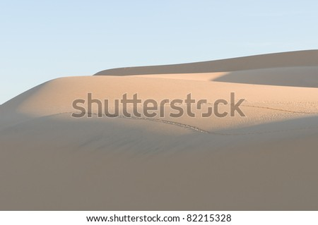 sand dunes,Vietnam - stock photo