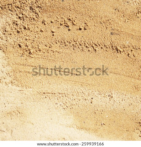 Sand frame for background - stock photo