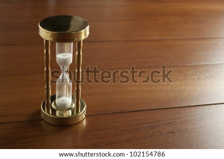 sand glass - stock photo