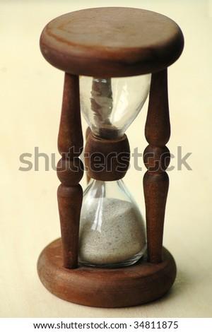 sand glasses - stock photo
