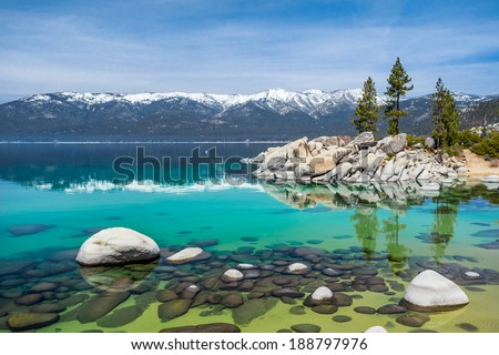 Sand Harbor Beach, Lake Tahoe - stock photo