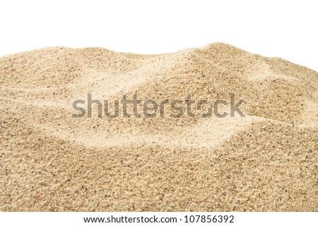 sand heap full frame closeup - stock photo