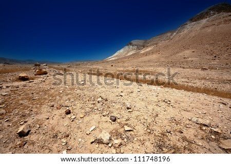 Sand Hills of Samaria, Israel. Sunset