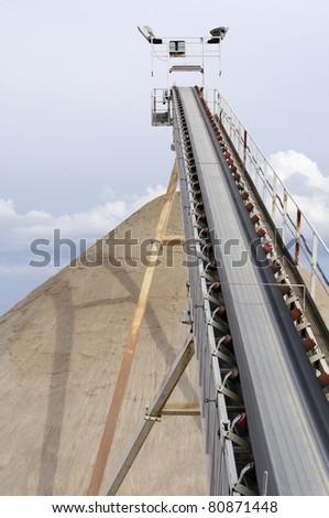 Sand mining - stock photo