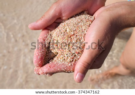 Sand of Elafonissi beach  - Crete