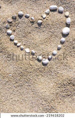 Sand of Lefkada - stock photo