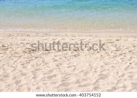 Sand of tropical  beach  - stock photo