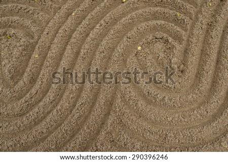 sand of zen - stock photo