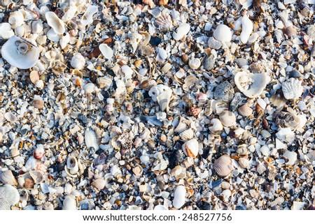 sand on beach at phetburi province - stock photo