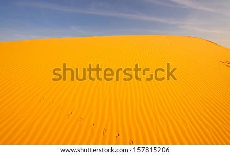 Sand Pattern on Sand Dunes - stock photo