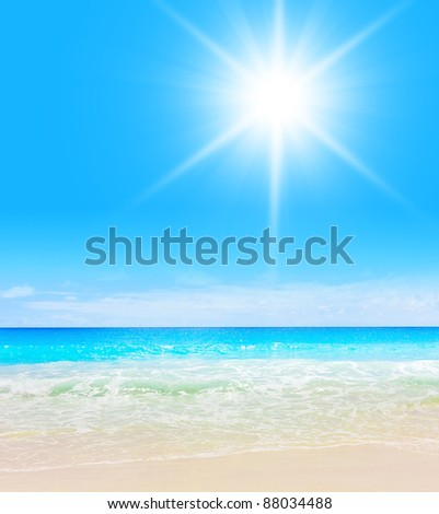 Sand Sea - stock photo